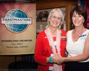 Gayle Larkin, DTM and Linda Robinson, Area G2 Governor
