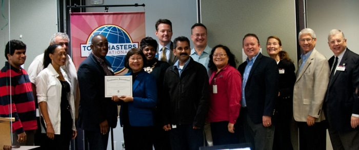 Charter Members of Schneider Electric – Lake Forest Toastmasters and Founder's District Dignitaries