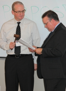 Thomas Helms during Club Officer Induction Ceremony